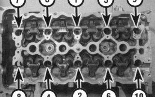 Момент затяжки ГБЦ ВАЗ-2112 16 клапанов: схема и усилие