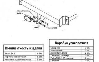 Установка фаркопа на ВАЗ-2115: правила монтажа своими руками