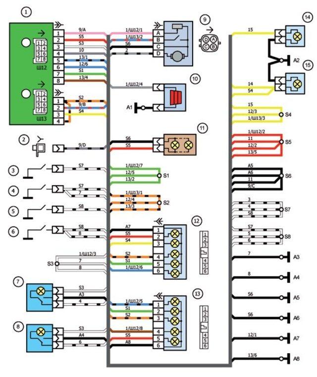 Как делается подсветка салона ВАЗ 2107 своими руками: схема