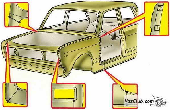 Замена переднего крыла ВАЗ-2107 своими руками: пошаговая видеоинструкция