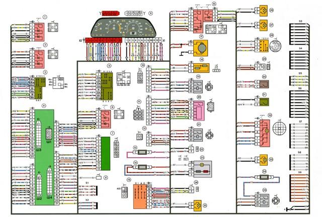 Распиновка щитка приборов ВАЗ 2114: схема, инструкция
