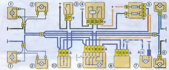 Электросхема ВАЗ 21213 Нива карбюратор с описанием и фото