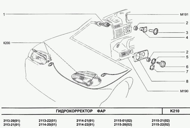 Замена гидрокорректора фар ВАЗ 2114 своими руками: видеоинструкция