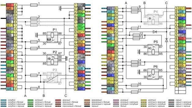 Схема проводки ВАЗ-2105 (карбюратор, инжектор) с описанием