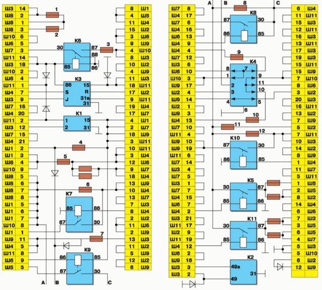 Как снять блок предохранителей ВАЗ 2115 инжектор 8 клапанов: замена, расшифровка