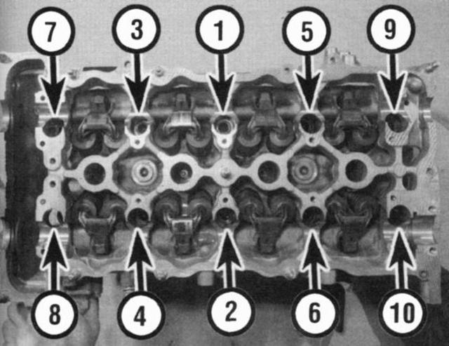 Момент затяжки ГБЦ ВАЗ-2112 16 клапанов: схема, усилие