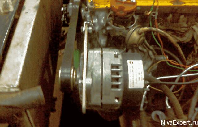 Перенос генератора наверх в Ниве ВАЗ-21213 своими руками: чертежи