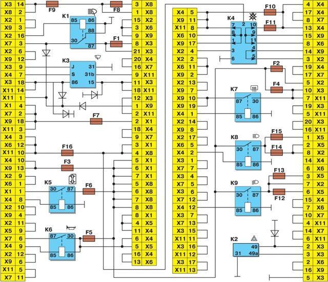 Схема предохранителей ВАЗ-2115: фото